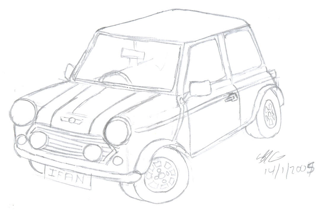 hight resolution of mini cooper sketch by sions