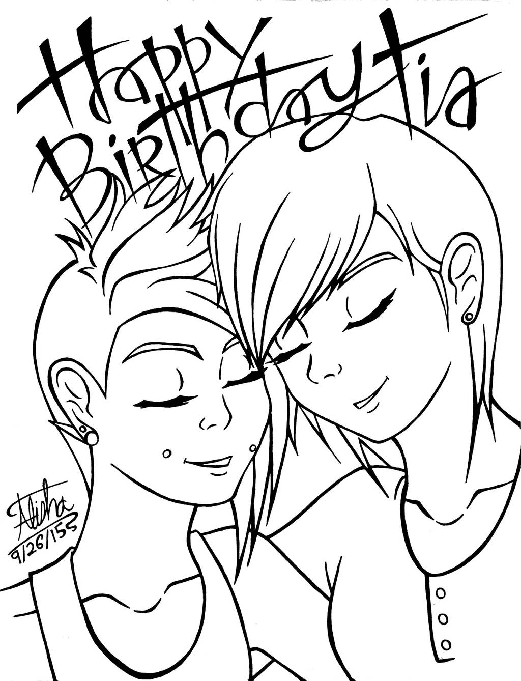 Happy Birthday Tia by AlishaArt on DeviantArt