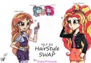 hairstyle swap-adagio and sunset