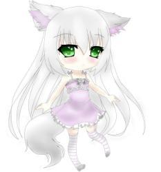 Cute Chibi Anime Wolf Girl