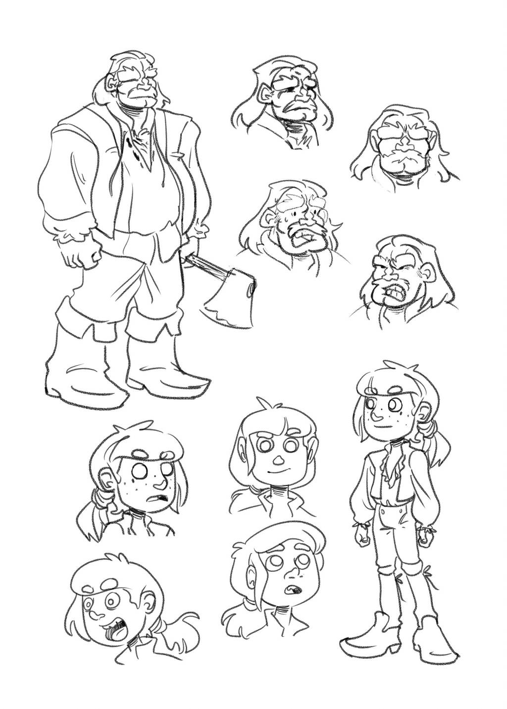 boys character design little boy and woodman by