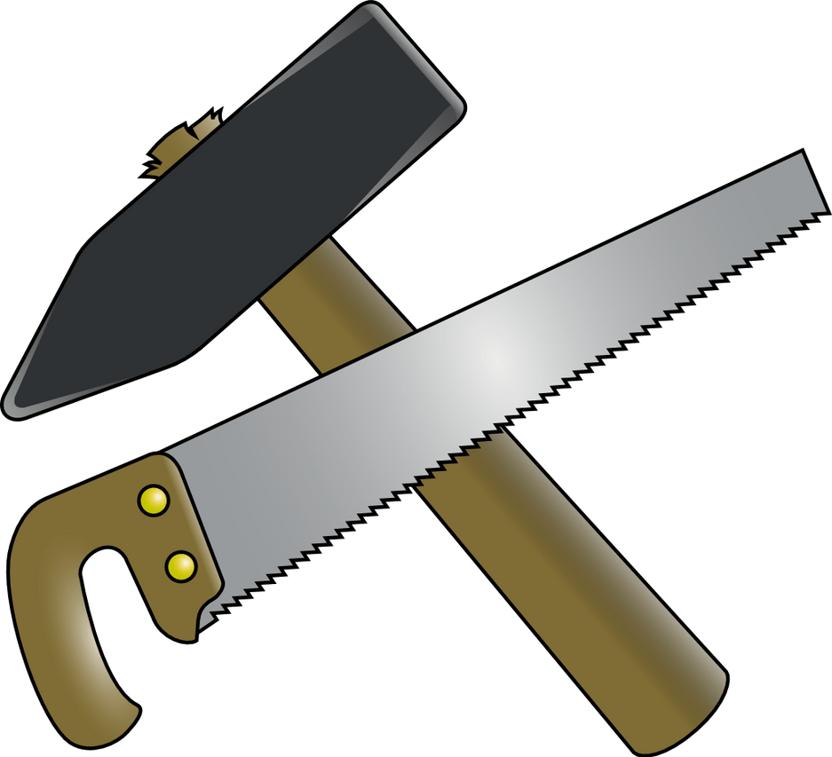 hight resolution of hammer and saw clipart by 2992fuzi