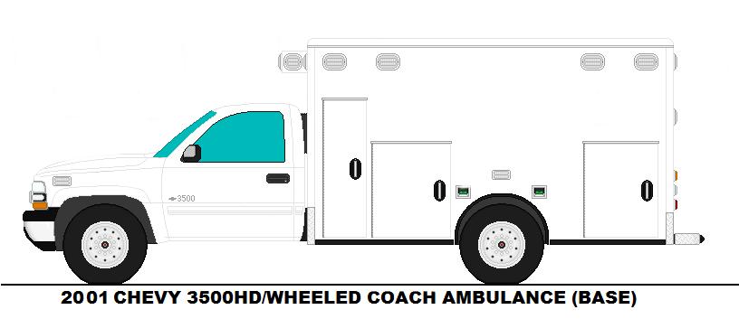 2001 Chevrolet 3500 HD Wheeled Coach Ambulance by