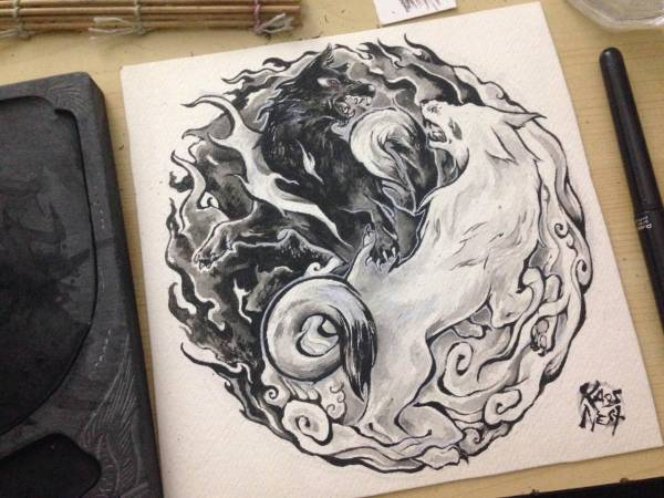 d2942045a2a6b 20+ Elemental Wolf Tattoo Designs Pictures and Ideas on Meta Networks