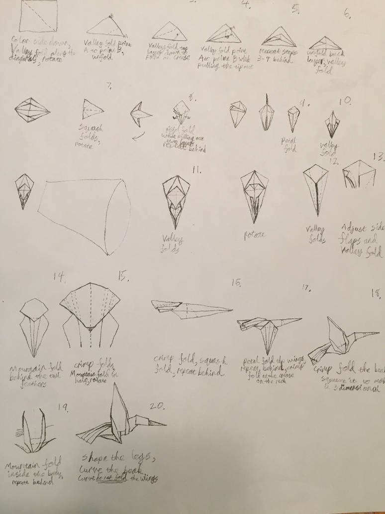origami hummingbird diagram instructions kenwood kdc 108 car stereo wiring by brickgenius27 on deviantart