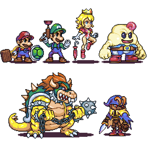 Super mario RPG characters by Omegachaino on DeviantArt