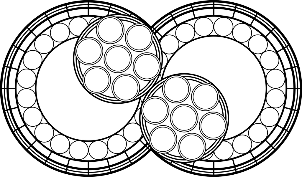 Stained Glass Template Vector Design Infinity by Akili