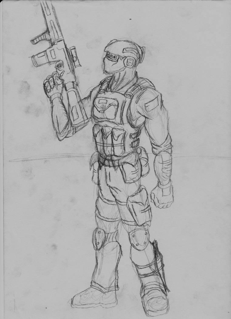 Ghost Recon Sketch by R0ACHA on DeviantArt