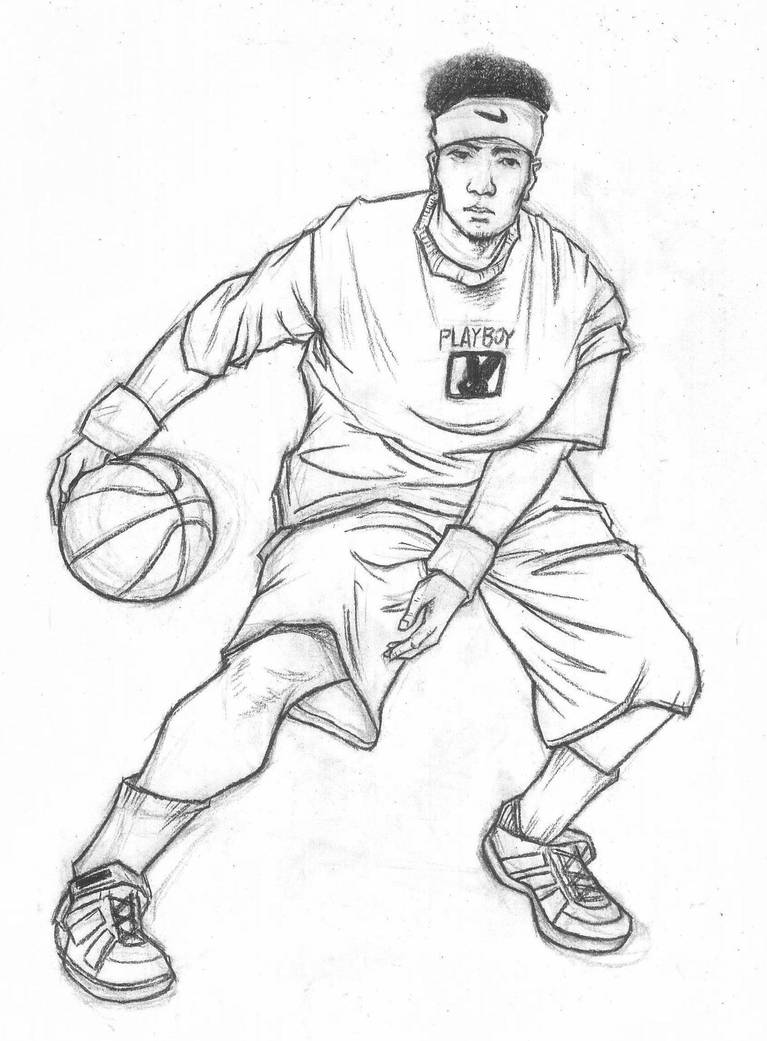 Fast sketch of sports movements-basketball by THB886 on