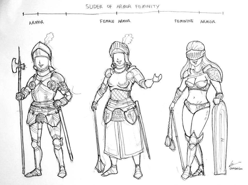 The Slider of Armor Feminity by Gambargin on DeviantArt