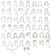 female anime hairstyles anaiskalinin