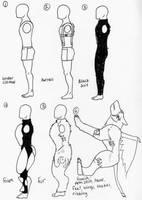 Digitigrade leg foaming study (in fursuits) by 10kk on