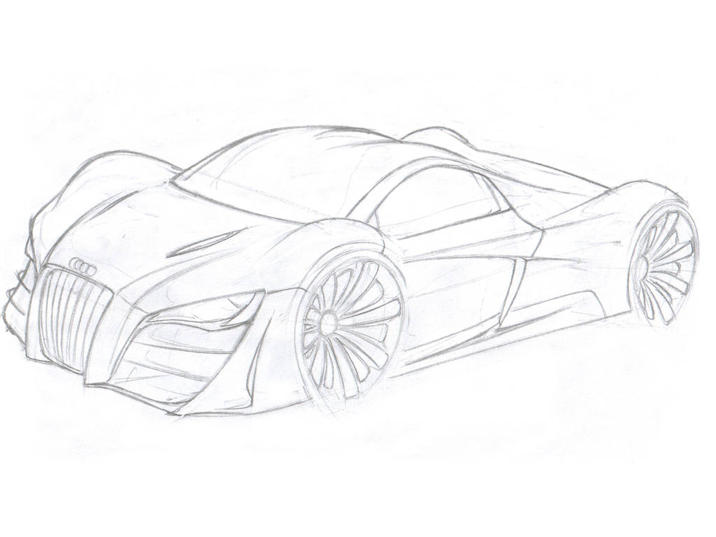 Audi sketch...more to come by Morfiuss on DeviantArt