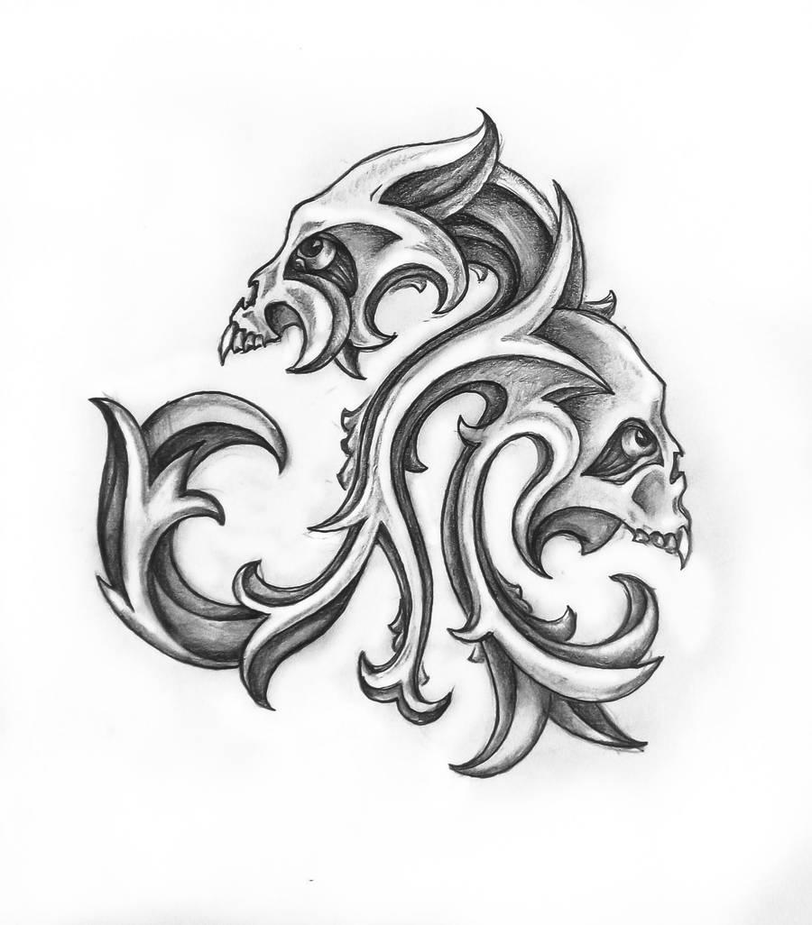 skulls tattoo by bobby79 on DeviantArt
