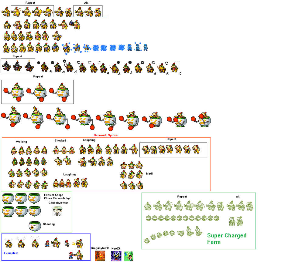 Clown Car Smb Wallpaper Bowser Jr Sprites Extra By Electricstaticgamer On