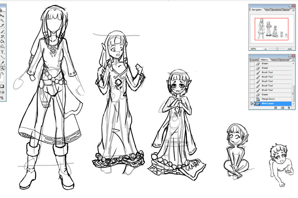 Skyward Sword WIP Rough Progress by seiko on DeviantArt