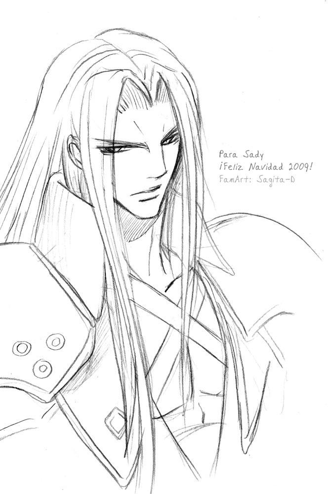 Sephiroth sketch by Sagita-D on DeviantArt