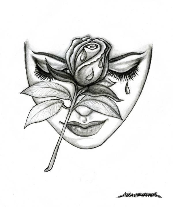 Rose Face by MuddyGreen on DeviantArt