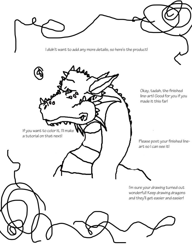 How to Draw A Basic Dragon Head(Side View)(3/3) by