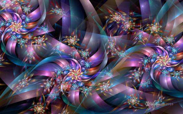 Fractal Ribbons And Stars Wolfepaw Deviantart