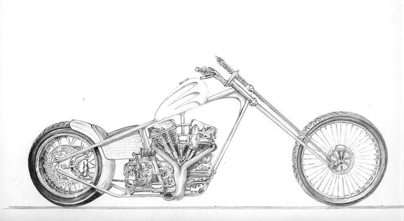 Concept chopper drawing by Z-Vincent on DeviantArt