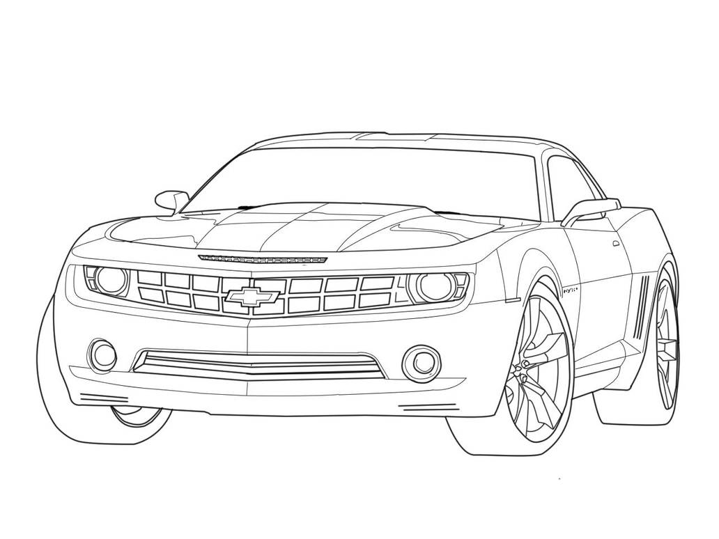 Camaro outline by Tiller911 on DeviantArt