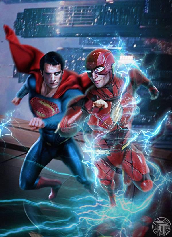 Flash And Superman Race Timetravel6000v2 Deviantart