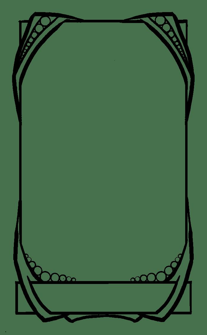 Tarot card template by ContntlBreakfst on DeviantArt