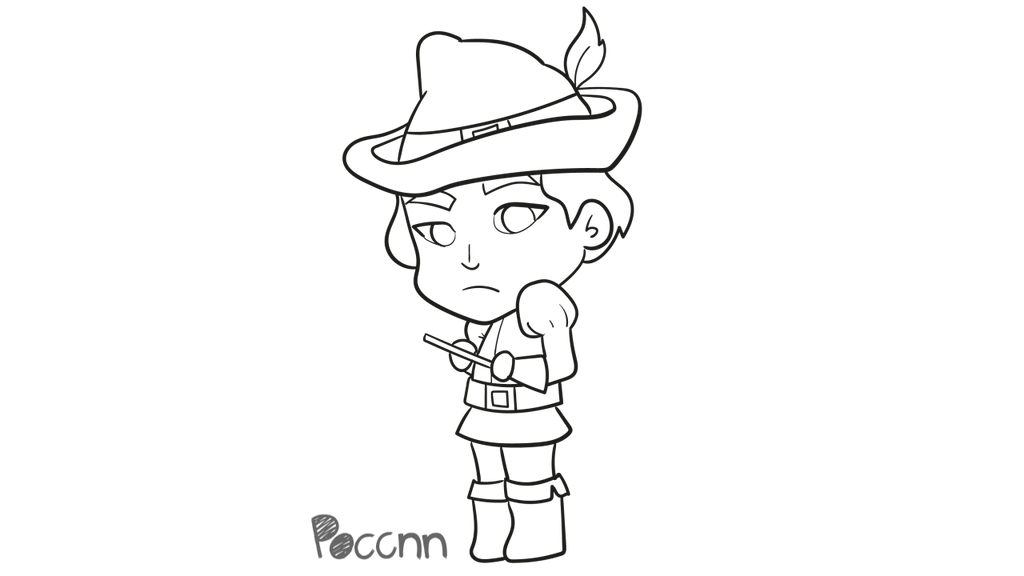 Cute Pied Piper of Hamelin to color (Shrek) by