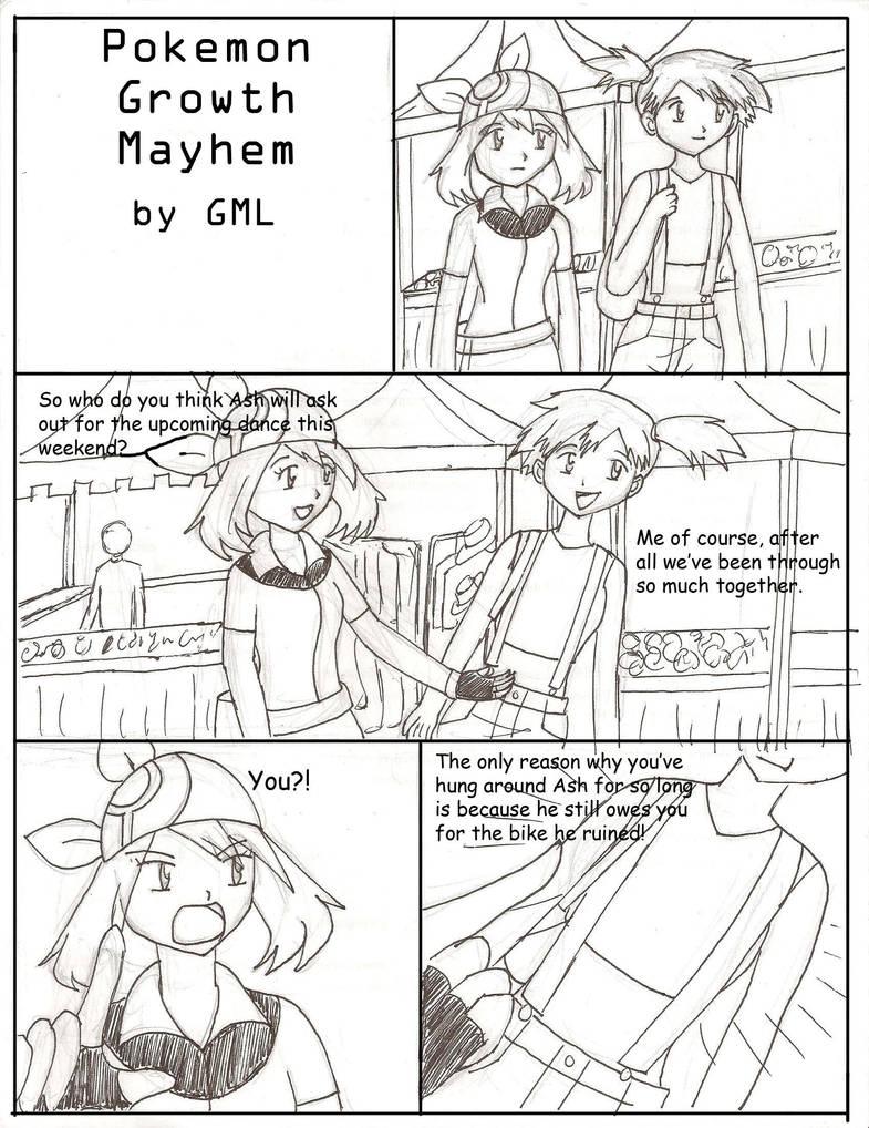 Pokemon Growth Mayhem Comic Pg1 by GrandMasterLucilious on