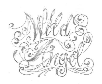 chicano letter angel desig by 2Face-Tattoo on DeviantArt