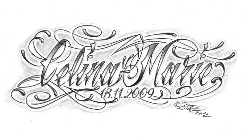 chicano lettering calina marie by 2Face-Tattoo on DeviantArt