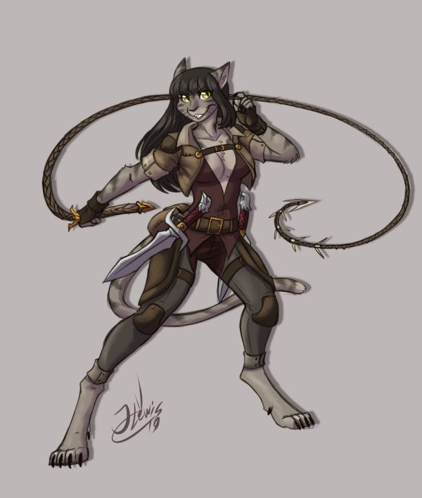 Tabaxi Dnd Female - Year of Clean Water