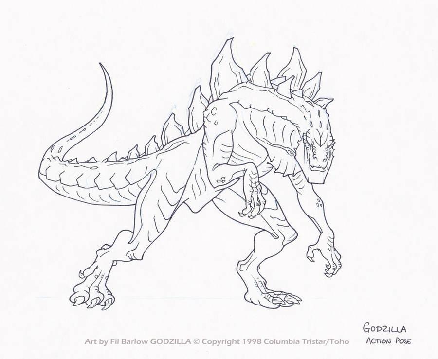 Godzilla: Action Pose by filbarlow on DeviantArt