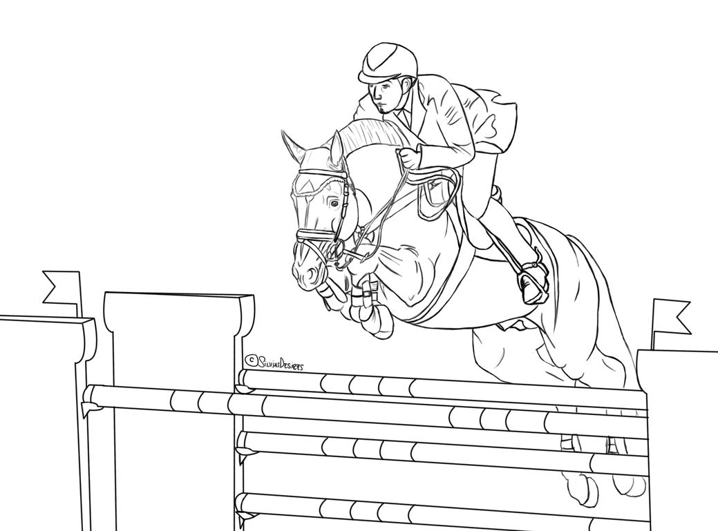 FREE show jumping lineart by SilviasDesires on DeviantArt