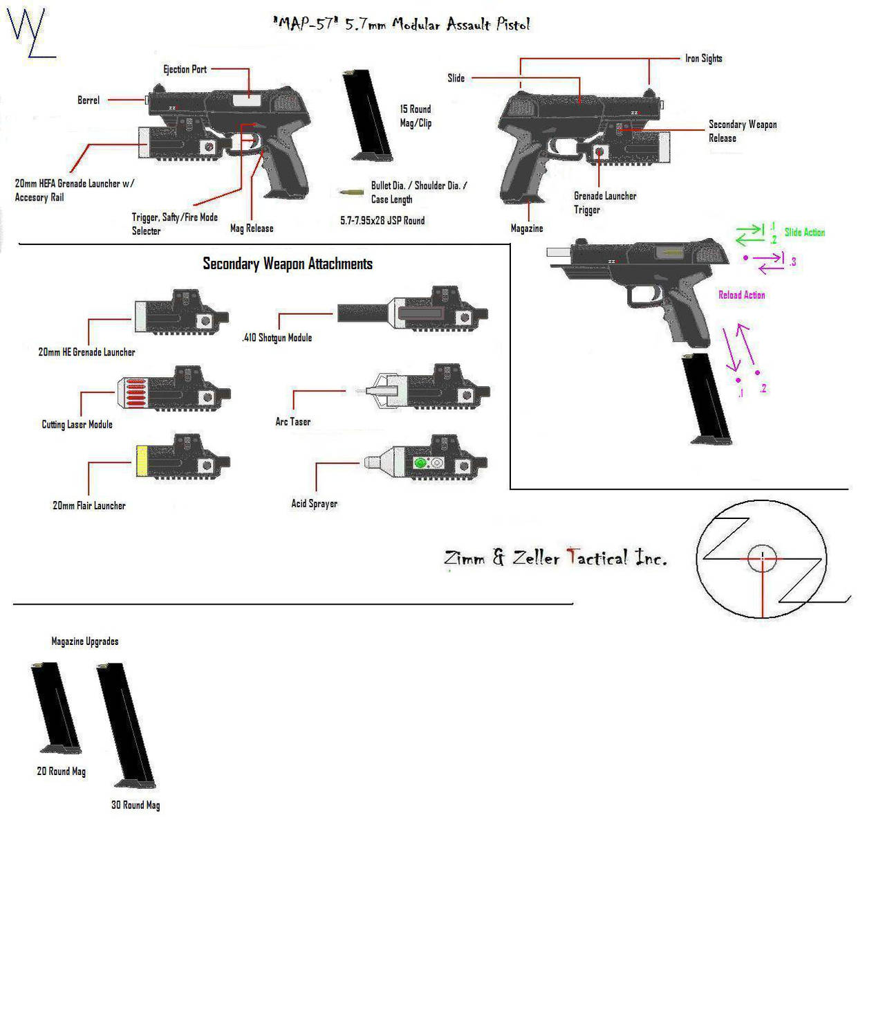 'MAP-57' 5.7mm Pistol Info by KillSwitchWes on DeviantArt