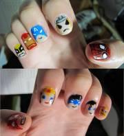 super hero nails tharesek