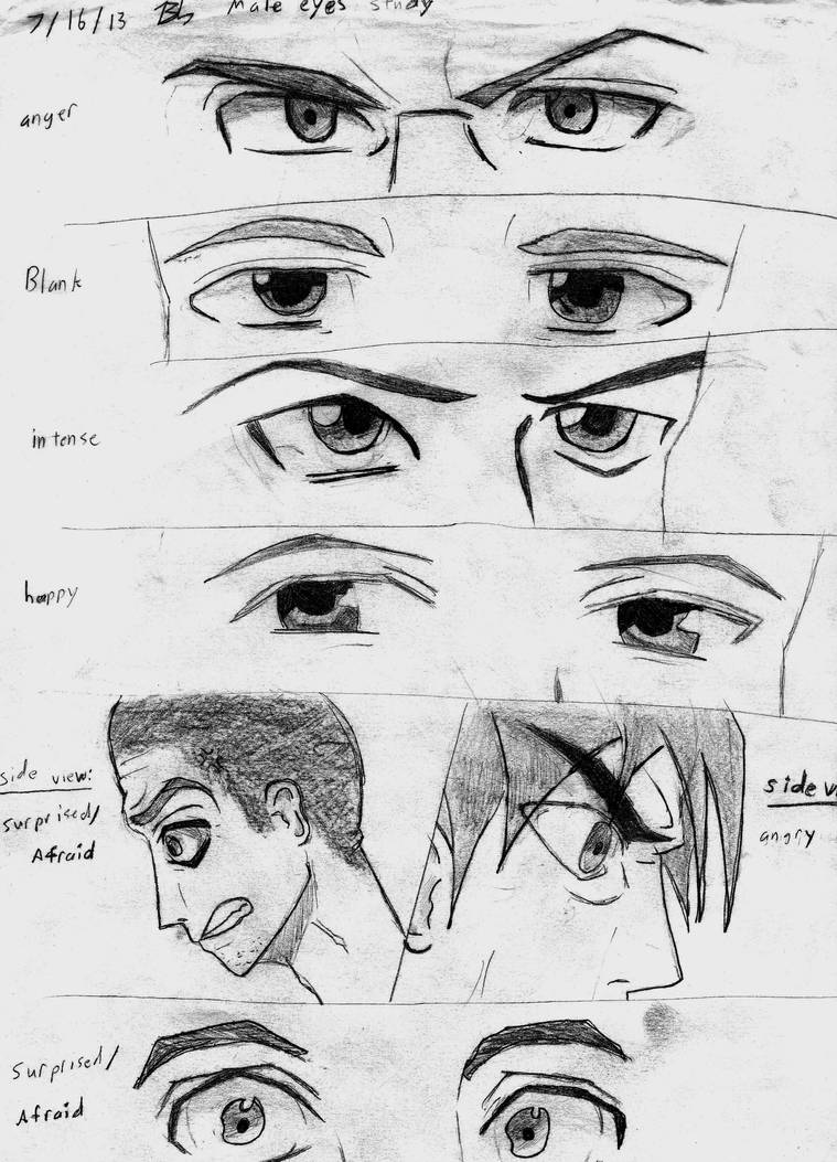 anime eyes male angry