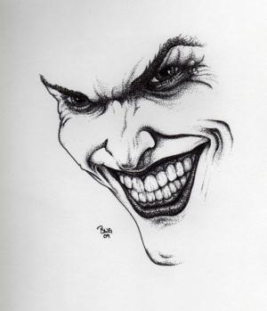 joker pencil drawing sketches easy sketch deviantart drawings face scary smile evil harley jokers tattoo realistic quinn pen theunlawyer sherlock