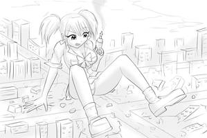 MHA Giantess Invisible Girl by THEDAIBIJIN on DeviantArt