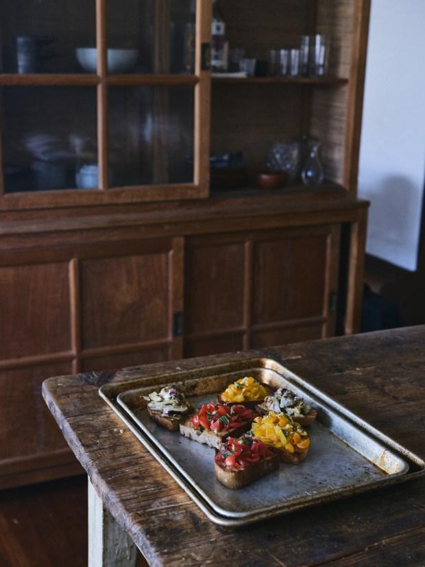 Preparing Bruschetta in the Kitchen
