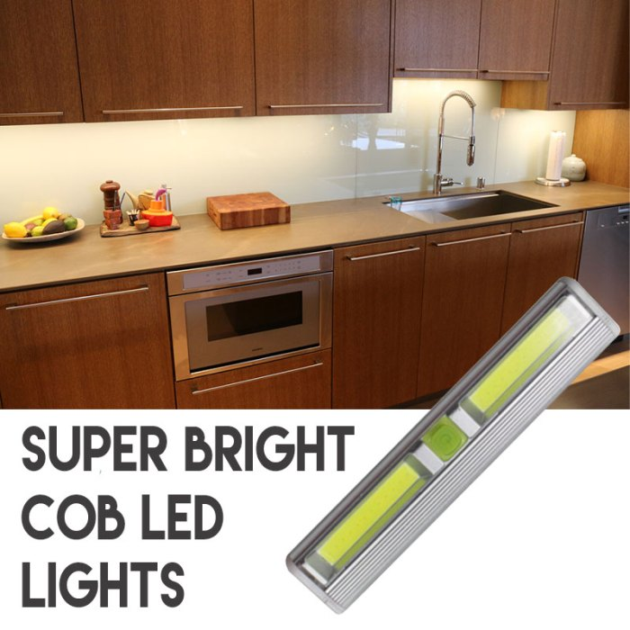 Wireless Super Bright COB LED Tap Light - Perfect for under cabinet lighting and more! - Batteries Included! UNLIMITED FREE SHIPPING! - 13 Deals