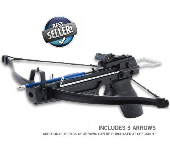 13Deals: 50lb Draw Pistol Grip Crossbow With Arrows! - Order 3 or more and SHIPPING IS FREE! Only $14.99
