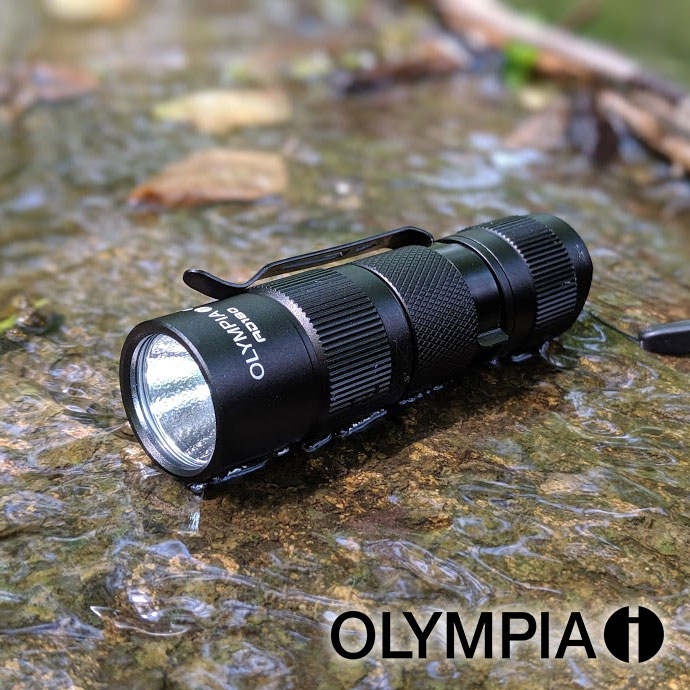 Olympia AD180 180-Lumen TRULY WATERPROOF AD Series High-Performance CREE LED Compact Flashlight - Again, not water resistant, waterproof up to 6 feet of submerging! BATTERIES INCLUDED! Currently $30 On Amazon with 5-Star Reviews! - 13 Deals