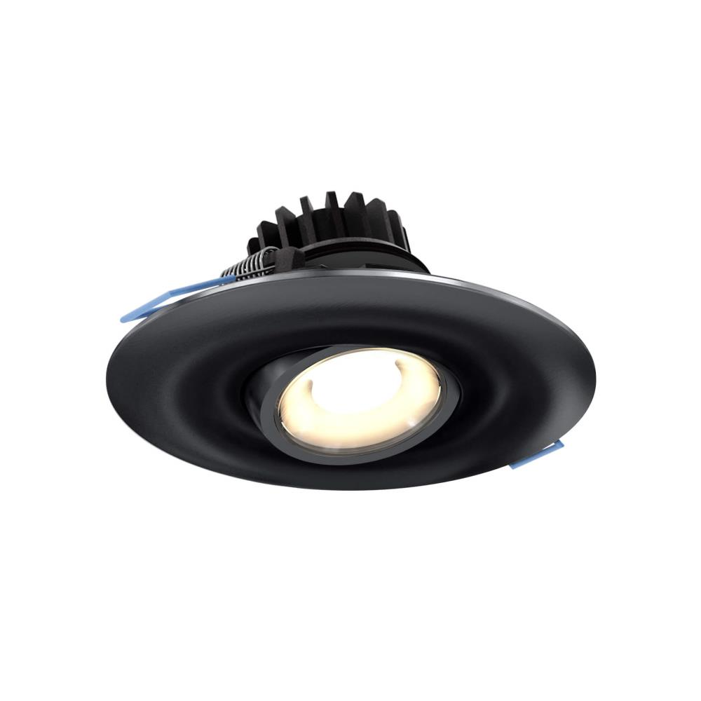 4 inch 8w 3000k led round gimbal recessed light