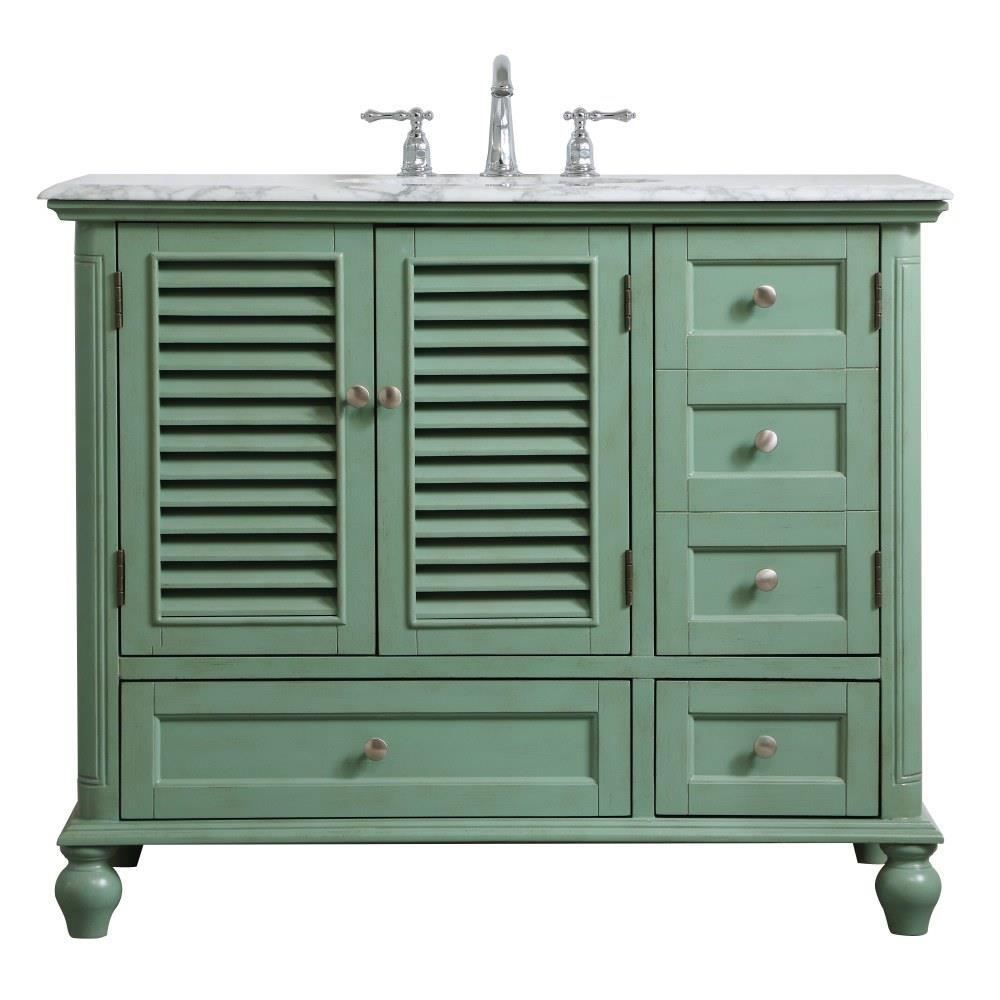 rhodes 42 inch 2 drawer single bathroom vanity sink set