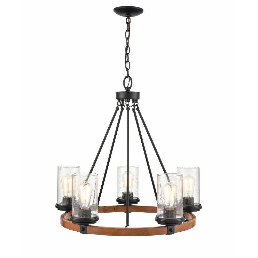 taos 5 light chandelier