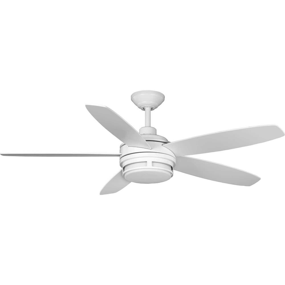 albin 54 inch wide ceiling fan 1 light handheld remote damp rated