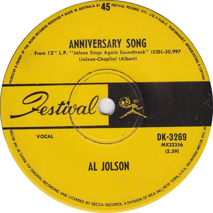 45cat al jolson rock