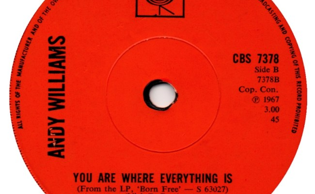 45cat Andy Williams You Ve Got A Friend You Are Where Everything Is Cbs Uk Cbs 7378